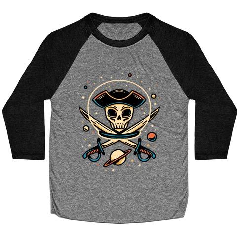 Space Pirate Baseball Tee
