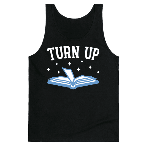 Turn Up Book Tank Top