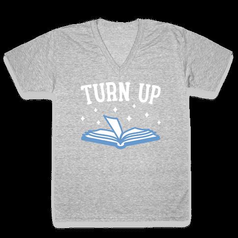 Turn Up Book V-Neck Tee Shirt