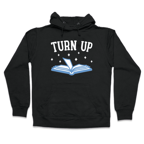 Turn Up Book Hooded Sweatshirt