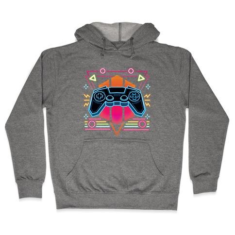 Synthwave Gamer Hooded Sweatshirt