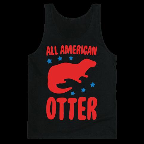 All American Otter White Print Tank Top