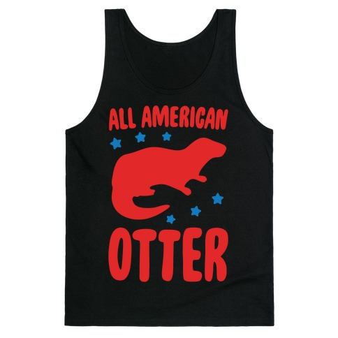 All American Otter White Print Tank Top