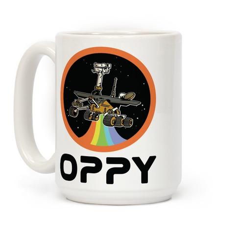 Oppy Nasa Parody Vintage Logo Coffee Mug