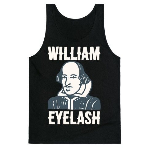 William Eyelash White Print Tank Top
