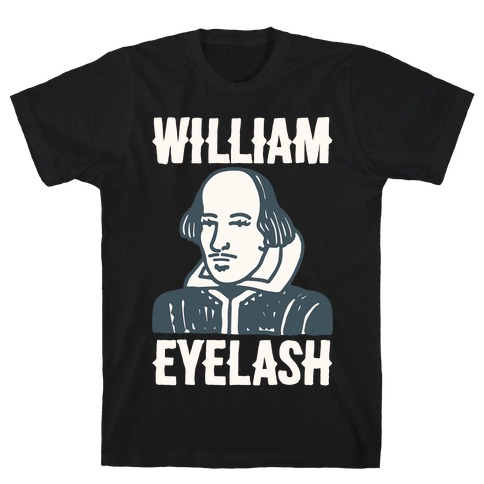 William Eyelash White Print T-Shirt