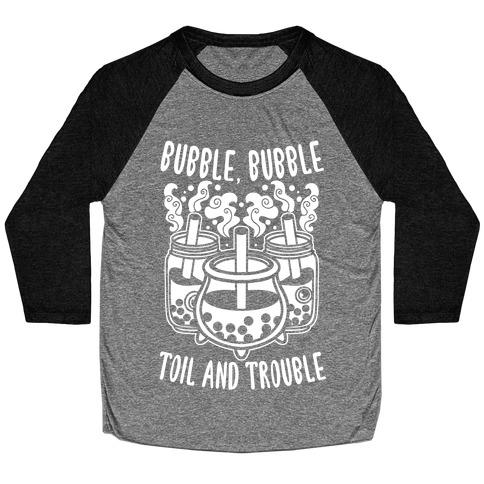 Bubble, Bubble Toil And Trouble Boba Baseball Tee