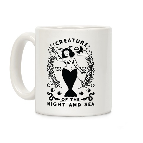 Creature of the Night and Sea Coffee Mug