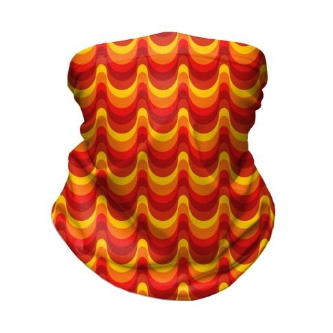 Groovy Waves: Autumn Colors Neck Gaiter