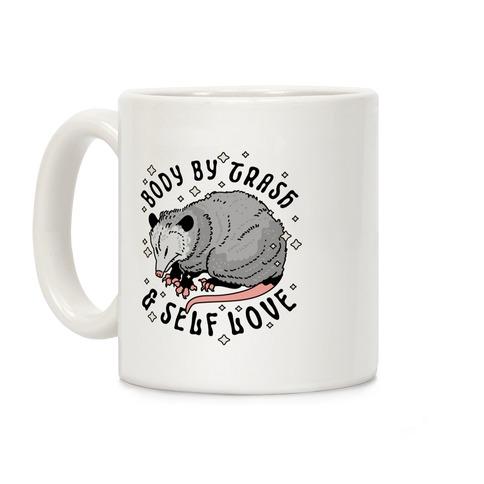Body By Trash And Self Love Possum Coffee Mug