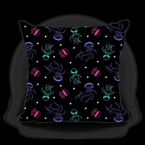 Jellyfish Glow Pattern Pillow