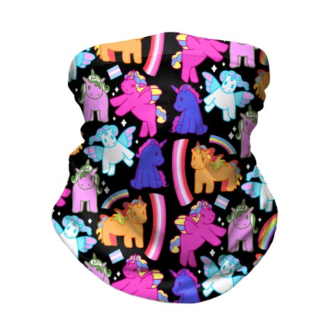 LGBTQ Unicorns Pattern Neck Gaiter