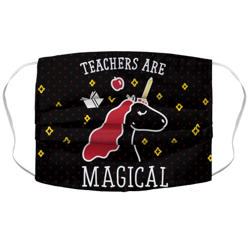 Teachers Are Magical (White) Accordion Face Mask
