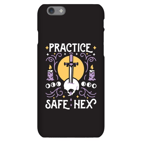 Practice Safe Hex Phone Case