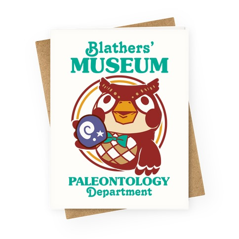 Blathers' Museum Paleontology Department Greeting Card