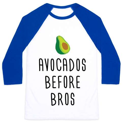 Avocados Before Bros Baseball Tee