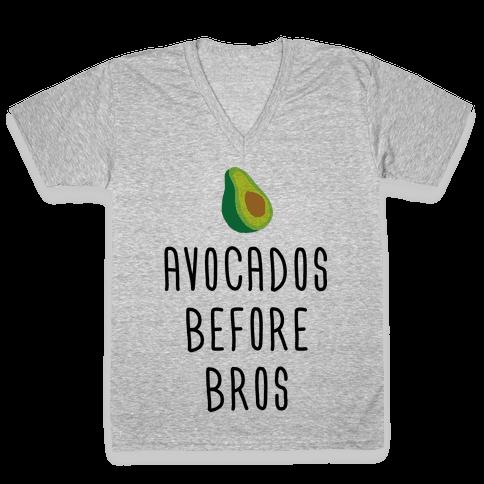 Avocados Before Bros V-Neck Tee Shirt