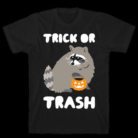 Trick Or Trash Raccoon Mens T-Shirt