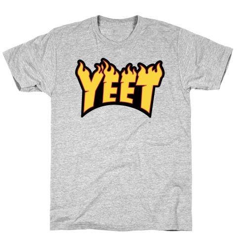 Yeet Thrasher Logo Parody Mens/Unisex T-Shirt