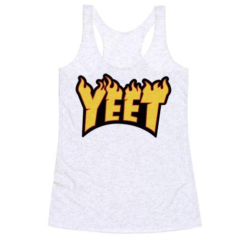 Yeet Thrasher Logo Parody Racerback Tank Top