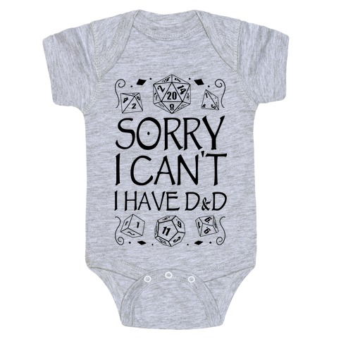 Sorry I Can't, I Have D&D Baby Onesy