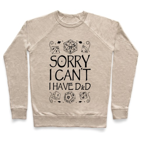 Sorry I Can't, I Have D&D Pullover