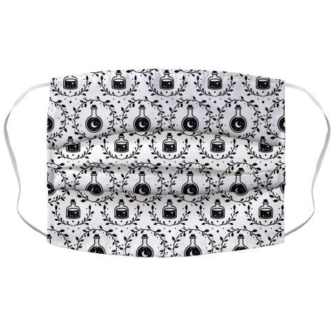 Potion Pattern White Accordion Face Mask