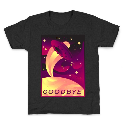 Goodbye Earth Travel Poster Kids T-Shirt