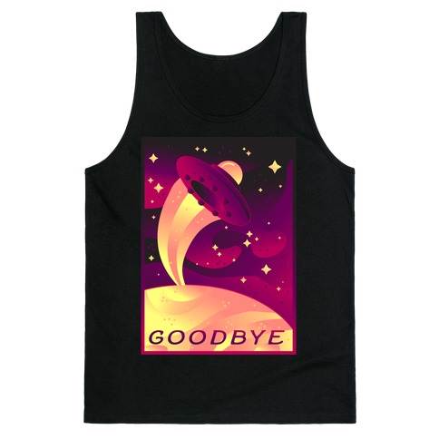 Goodbye Earth Travel Poster Tank Top