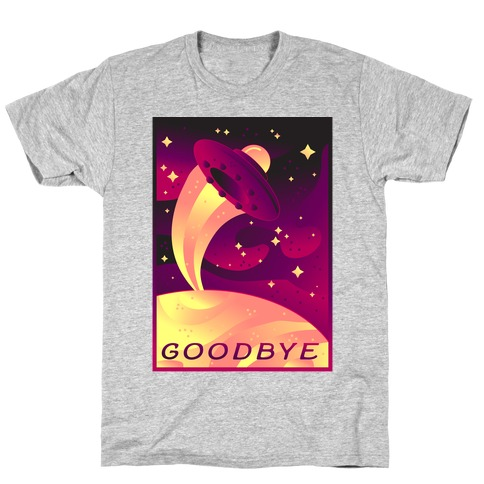 Goodbye Earth Travel Poster T-Shirt