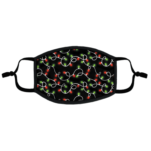 Christmas Lights Pattern Flat Face Mask