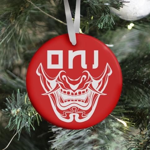 Oni Yokai (red) Ornament