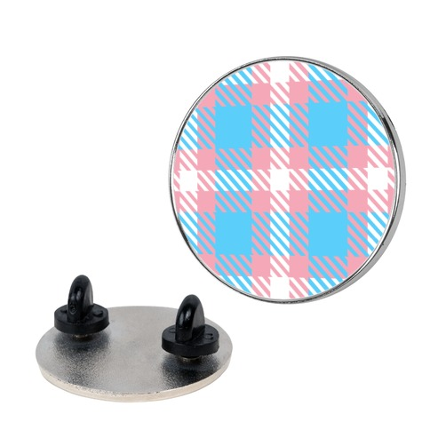 Trans Pride Flag Plaid Pin
