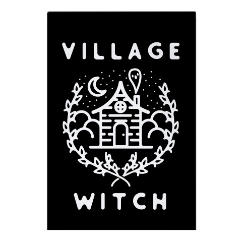 Village Witch Garden Flag