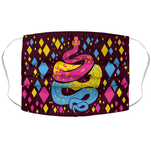 Pride Snakes: Pansexual Face Mask Cover