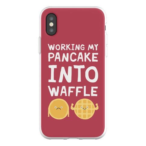 Working My Pancake Into Waffle Phone Flexi-Case