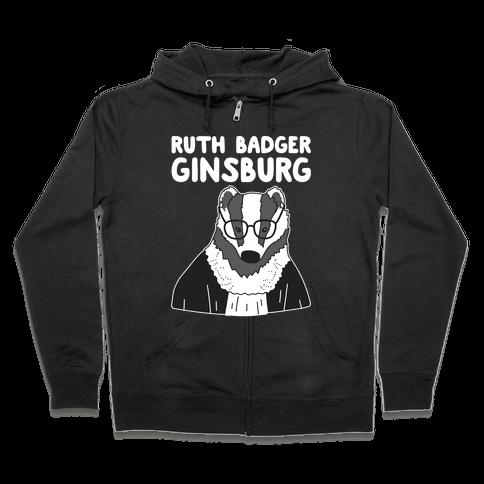 Ruth Badger Ginsburg Zip Hoodie
