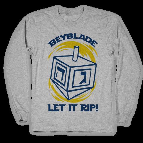 Beyblade Let It Rip Dreidel Long Sleeve T-Shirt