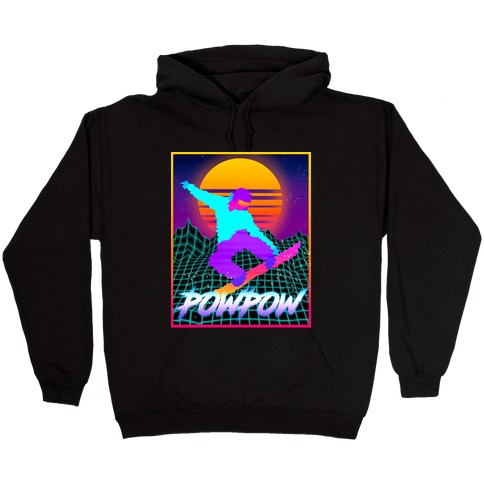 POWPOW Synthwave Snowboarder Hooded Sweatshirt