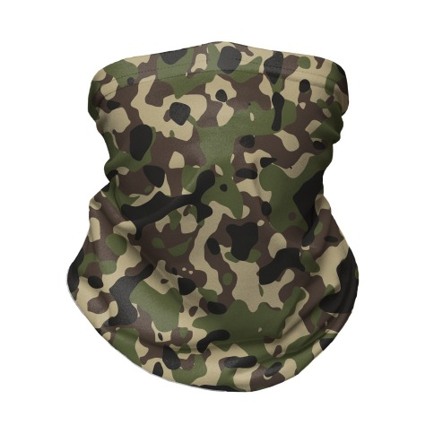 Camo Pattern Neck Gaiter