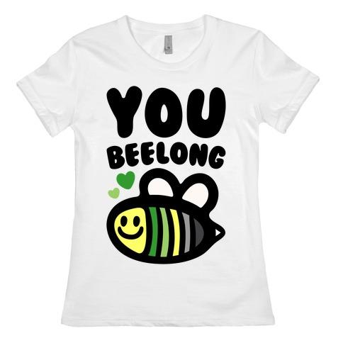 Bee Yourself Aromantic Pride Womens T-Shirt
