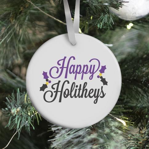 Happy Holitheys! Non-binary Holiday Ornament