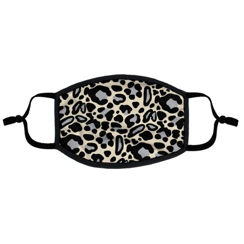 Leopard Print Pattern Flat Face Mask