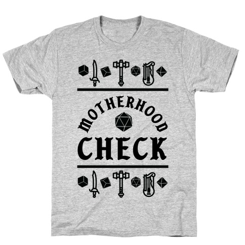 Motherhood Check T-Shirt