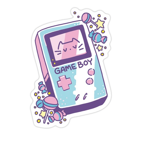 Game Boy - Trans Pride Die Cut Sticker