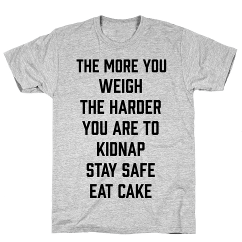 Stay Safe Eat Cake Mens T-Shirt