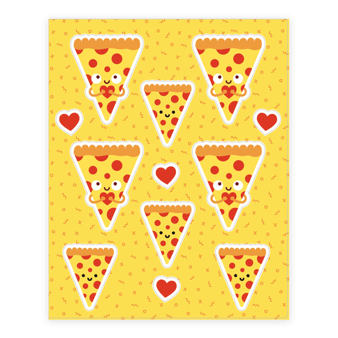 Pizza My Heart Sticker and Decal Sheet