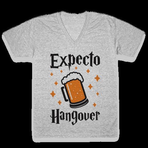 Expecto Hangover (Beer) V-Neck Tee Shirt