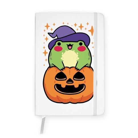 Cute Halloween Frog Notebook