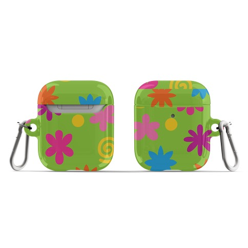 2000's Funky Flower Pattern AirPod Case